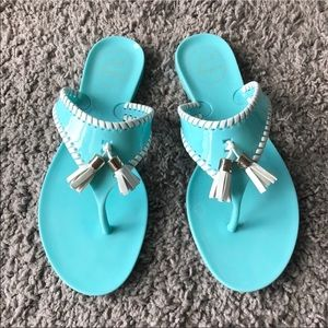 Jack Rogers Alana Jelly Sandals Tiffany BlueNWT for sale